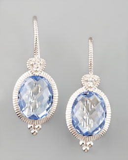 Judith Ripka Blue Drop Earrings