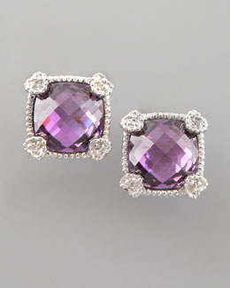 Judith Ripka Cushion-Cut Stud Earrings