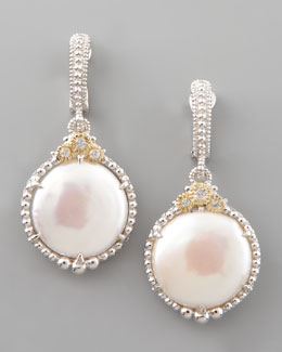 Judith Ripka Coin Pearl Earrings