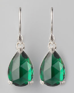 Judith Ripka Green Teardrop Earrings