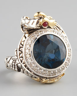 John Hardy London Blue Topaz Dragon Ring, Small