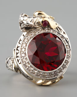 John Hardy Ruby Dragon Ring, Small