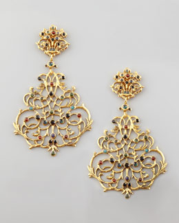 Jose & Maria Barrera Multicolor Lace Earrings
