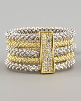 Lagos Pave Diamond Soiree Stacked Ring