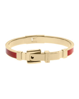 Michael Kors  Enamel Buckle Bangle, Golden