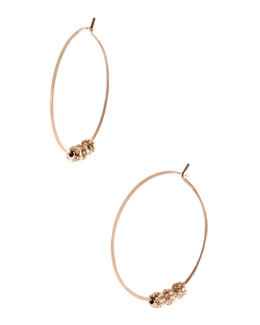 Michael Kors  Pave-Ball Hoop Earrings, Rose Golden