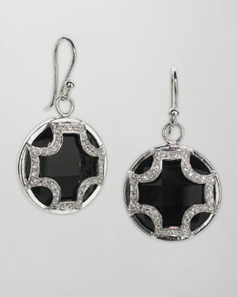 Elizabeth Showers Black Onyx Drop Earrings
