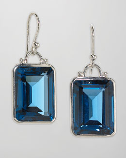 Elizabeth Showers London Blue Topaz Drop Earrings