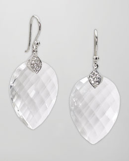 Elizabeth Showers Faceted Quartz Drop Earrings