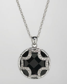 Elizabeth Showers Black Onyx Pendant Necklace
