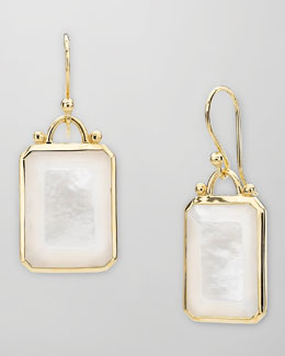 Elizabeth Showers Square 18k Gold Mother-of-Pearl Earrings