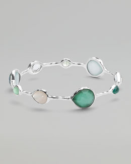 Ippolita Wonderland Open Teardrop Bangle, Green