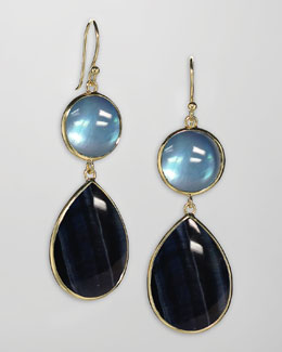 Elizabeth Showers Tiger's Eye & Topaz Earrings