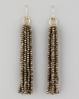 Nest Beaded Tassel Earrings