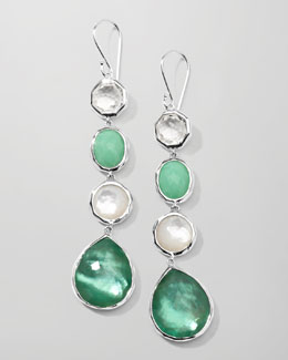 Ippolita Wonderland 4-Station Drop Earrings, Mint