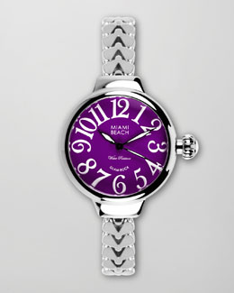 Miami Beach by Glam Rock Large Fishtail-Strap Round Watch