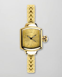 Miami Beach by Glam Rock Small Fishtail-Strap Square Watch, Gold