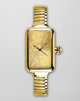 Miami Beach by Glam Rock Large Rectangular Expand Watch, Gold