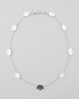 "Coomi Lotus Station Necklace, 19""L"