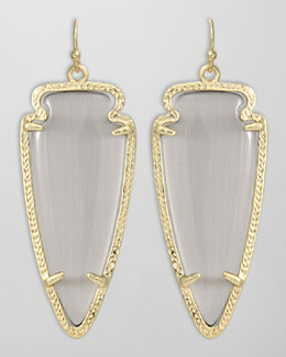 Kendra Scott Skylar Arrow Earrings, Slate