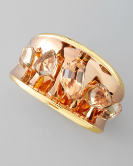 Alexis Bittar Bel Air Yellow & Rose Gold Bangle