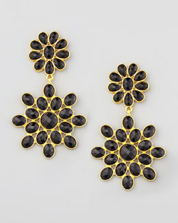 Amrita Singh Black Chandelier Earrings