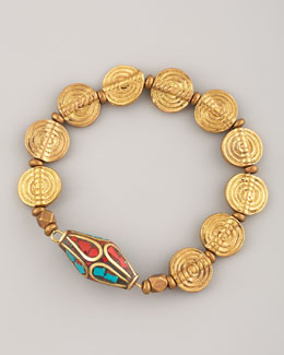 Vanessa Mooney Spiral-Beaded Nile Bracelet
