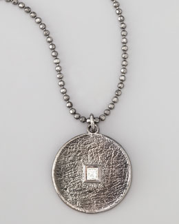 Dominique Cohen Pave Square-Diamond Pendant Necklace
