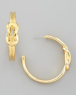 Tory Burch Hercules Knot Hoop Earrings