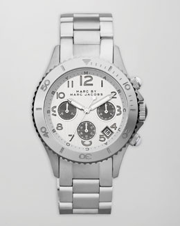 MARC by Marc Jacobs Rock Chronograph Watch, Stainless Steel