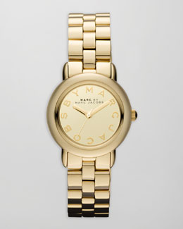 MARC by Marc Jacobs Marci 3H Analog Watch, Yellow Golden