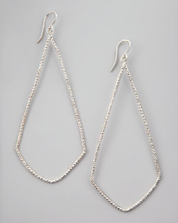 Dogeared Sparkle Swing Earrings, Silver