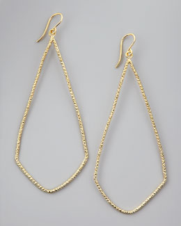 Dogeared Sparkle Swing Earrings, Gold