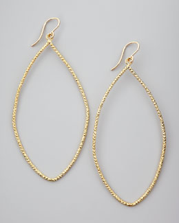 Dogeared Sparkle Marquise Earrings, Gold