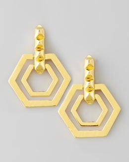 Eddie Borgo Small Edie Hexagonal Earrings