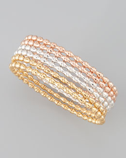 Simone I. Smith Six-Piece Mixed Metal Bangle Set