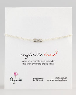 Dogeared Infinite Love Bracelet, Silver