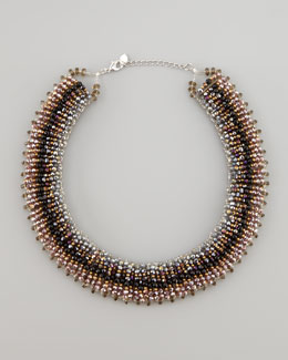 Nakamol Iridescent Tribal Necklace, Plum
