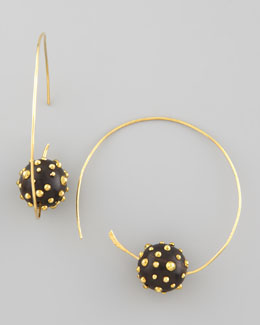 Karen London On a Roll Studded-Bead Earrings