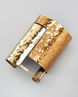 Lanvin Hammered Wide Cuff