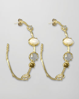 Kendra Scott Heather Hoop Earrings, Pearlescent
