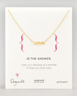 Dogeared Love Chain Necklace