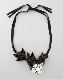 Donna Karan Galactic Cluster Necklace, Black/Ivory