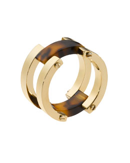 Michael Kors  Link Ring, Golden/Tortoise