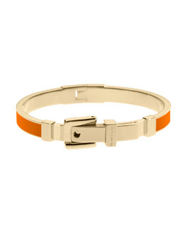 Michael Kors  Buckle Enamel Bracelet, Orange