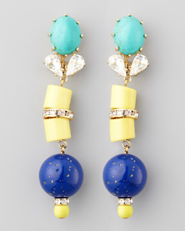 Lele Sadoughi Vessel Colorblock Earrings, Cobalt/Multicolor