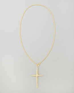 Alexis Bittar New Wave Cross Pendant Necklace