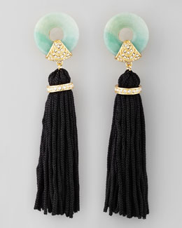 Rachel Zoe Amazonite Tassel Earrings