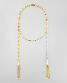 "Rachel Zoe Long Tassel-End Rope Necklace, 60""L"