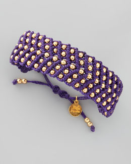 Blee Inara Beaded Friendship Bracelet, Purple